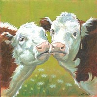 Cow Painting on 10x10 inch Canvas