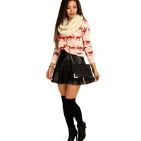 Tan Reindeer Sweater