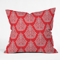 """Sharon Turner Spirit Red Throw Pillow - Indoor / 26"""""""" x 26"""""""" / Pillow Cover Only"""