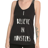 I Believe In Monsters Girls Tank Top