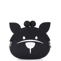 Black BCBG French Bulldog Coin Purse