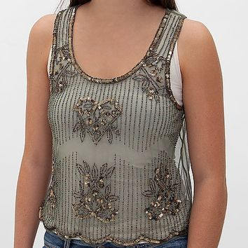 Pinky Embellished Tank Top