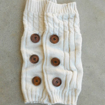 Ivory Hayseed Knitted Boot Cuffs [6435] - $21.00 : Vintage Inspired Clothing & Affordable Dresses, deloom | Modern. Vintage. Crafted.