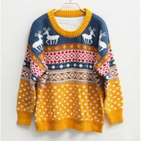 Round Neck Oversized Christmas Jumper