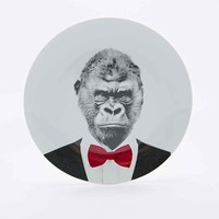 Mustard Wild Dining Gary Gorilla Plate - Urban Outfitters