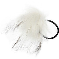 River Island Girls white pom hair bobble