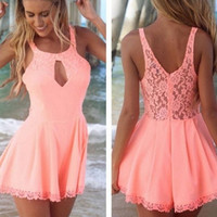 Pink V-Neck Playsuit