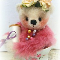 Mohair Artist Teddy Bear Pin Cushion by Michelle Mutschler-Rosie