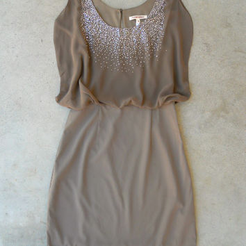 Sparkling Mocha Dress [6301] - $36.00 : Vintage Inspired Clothing & Affordable Dresses, deloom | Modern. Vintage. Crafted.