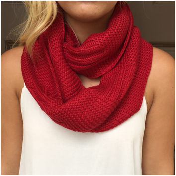 Garden of Eden Thick Knit Infinity Scarf - Garden of Eden Thick Knit Infinity Scarf