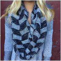 Up the Ladder Knit Infinity Scarf - Up the Ladder Knit Infinity Scarf