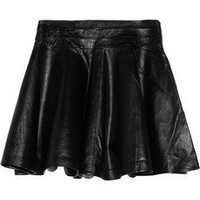 Milly | Delphine flared leather skirt | NET-A-PORTER.COM