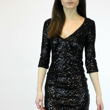 Check Up On It Dress in Black | Wow Couture Gold