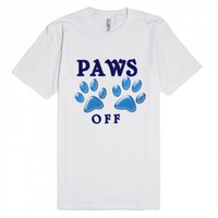 paws off | Fitted T-shirt | Skreened