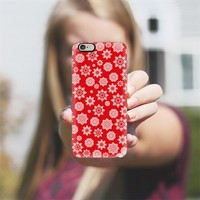 Mini Flurries on Red iPhone 6 case by Lisa Argyropoulos | Casetify