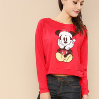 Micky Mouse Santa Graphic Hoodie