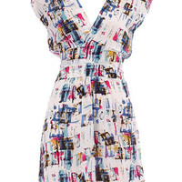 Blue abstract print dress - Brands at DP  - New In  - Dorothy Perkins