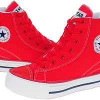 Maxstar C2 High-top Zipper Taller Insole Line Canvas Sneakers Red at MaxstarStore.com