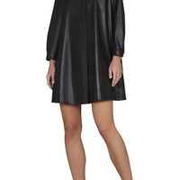 Black BCBG Emilee Long-Sleeve Dress