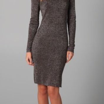 Alice + Olivia Lurex Knit Slim Dress