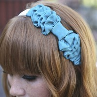 Turquoise Bow Headband by BeSomethingNew on Etsy