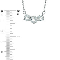7.0mm White Topaz Necklace in Sterling Silver