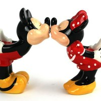 Kissing Mickey and Minnie - Salt &amp; Pepper Shakers