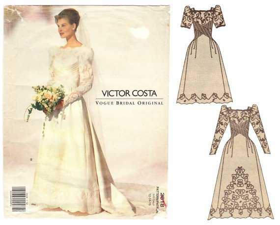 Wedding Dress Sewing Pattern Bridal Gown From