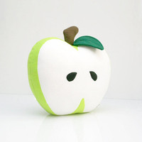Green Apple Pillow - Nursery Decor