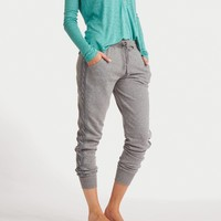 Aerie Cable Knit Skinny Jogger, Dark Heather Grey | Aerie for American Eagle