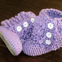Crochet Baby Booties Furry Ugg Insp.. on Luulla