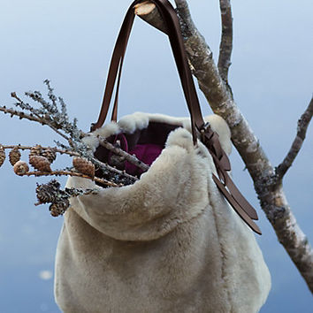 Shearling Hobo Bag by Holding Horses Neutral One Size Bags