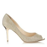 Nude Mirror Leather Peep Toe Pumps   Evelyn   Cruise 15   JIMMY CHOO Shoes