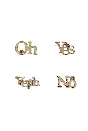 Oh Yeah Yes No Studs - Jewelry  - Accessories