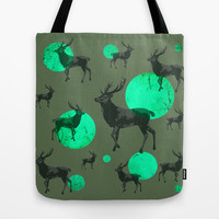 Dear deers - color option Tote Bag by AmDuf