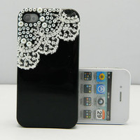 Lace black case  iPhone case iPhone 4 case iPhone 4s case iPhone cover Multiple color choices Listing Stats Listing Stats