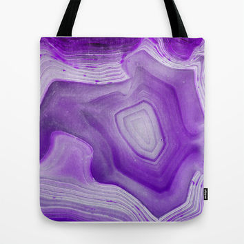 MINERAL BEAUTY LILAC Tote Bag by Catspaws