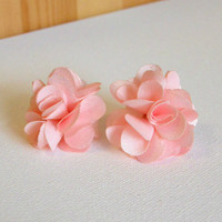 Peony Blossom Earrings [3070] - $9.00 : Vintage Inspired Clothing & Affordable Summer Dresses, deloom | Modern. Vintage. Crafted.