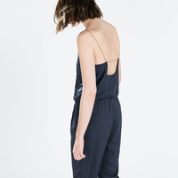 Chain strap long jumpsuit