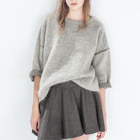 Wool layered skirt
