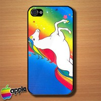Unicorn Rainbow Custom iPhone 4 or 4S Case Cover