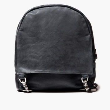 REFLECTIVE LEATHER BACKPACK
