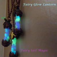 "2-""The Original Fairy Glow Lantern""   Vial necklace, Copper or Pewter color Vial choice"
