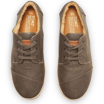 GREY SYNTHETIC LEATHER WOMEN'S PASEOS