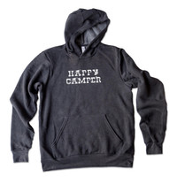 UNISEX Happy Camper Soft Hoodie | Camping Shirt | Glamping Tee | Outdoorsman Tee | Hiking Shirt | Outdoorsy Gift | National Parks Gift