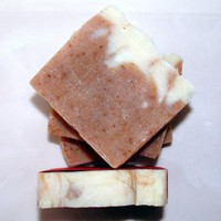 Strawberries Cream Handcrafted Soap All Natural Vegan Friendly by lanmom on Zibbet