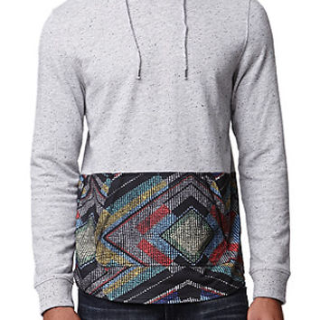 On The Byas Atlas Neps Pieced Hooded Shirt - Mens Shirt - Gray