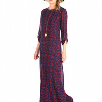 House of Harlow 1960 Candece Maxi Skull Print Dress