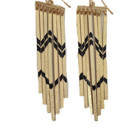Party Time Earrings - OS / Black and Gold