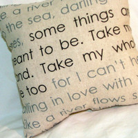 Wedding Lyrics Pillow